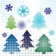 Royalty-Free Stock Vektorfiler: Christmas tree set