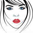 Beauty girl face. — Stock Vector