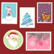 Winter postage set — Stock Vector