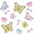 Background with butterfly — Grafika wektorowa