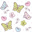 Background with butterfly — Imagen vectorial