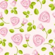 ストックベクタ: Seamless floral rose vector background