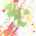 Grungy design colorful blot element — Stock Vector