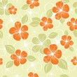Tropical seamless floral background — Stock Vector