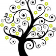 Royalty-Free Stock Vectorafbeeldingen: Abstract tree with birds
