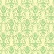 Loral light green floral wallpaper - Stock Vector