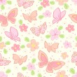 Royalty-Free Stock Vector Image: Seamless vector background with butterfly