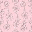 Seamless floral white vector background - Imagens vectoriais em stock