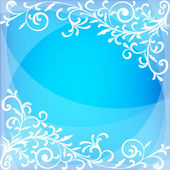 Blue Christmas background — Stock Vector