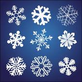 Set di fiocco di neve — Vettoriale Stock