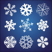 Snowflake set — Stockvector