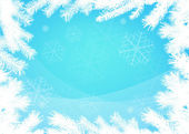 Winter christmas border background — Vetor de Stock