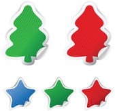 Set Christmas vector stickers — Stock Vector