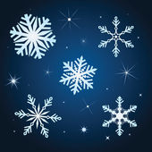 Snowflake winter set vector illustration — Stock Vector
