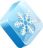 Vector ice button — Stock Vector