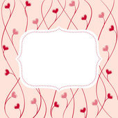 Cute art vector frame — Stock Vector