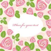 Kartpostal çiçek gül — Stok Vektör