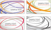 Set of templates for business cards — Stock Vector