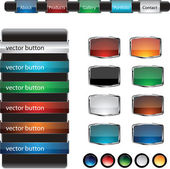Web design frame buttons vector set — Stock Vector