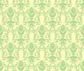 Loral light green floral wallpaper — Stock Vector