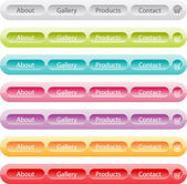 Vector buttons set templates for web — Stock Vector