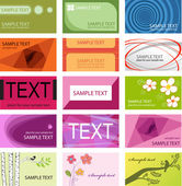 Business cards set template — Stock Vector
