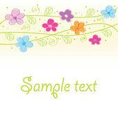 Cute floral card — Stock Vector