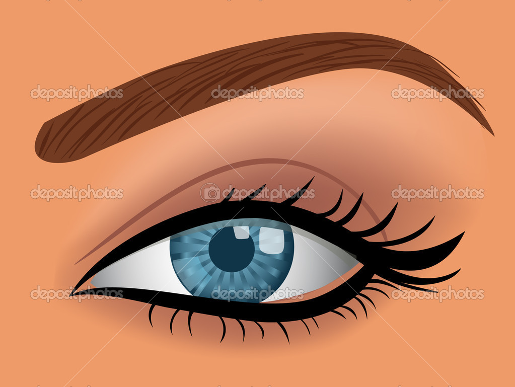 Vector woman blue eye illustration  Stock Vector #5414262