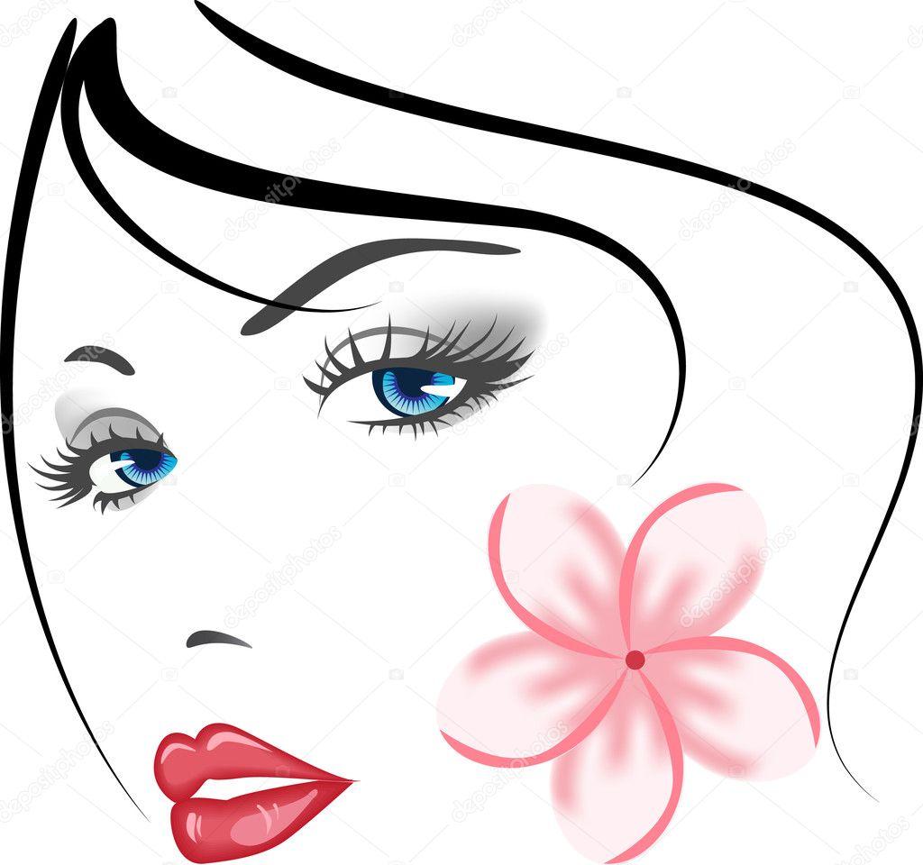 Art Deco Flowers Clip Art