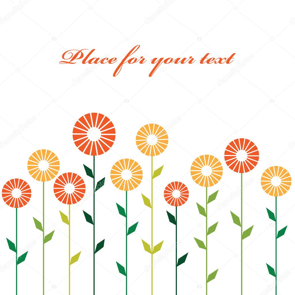 Cute stylish abstract flowers. Vector illustration — Stock Vector #5419697
