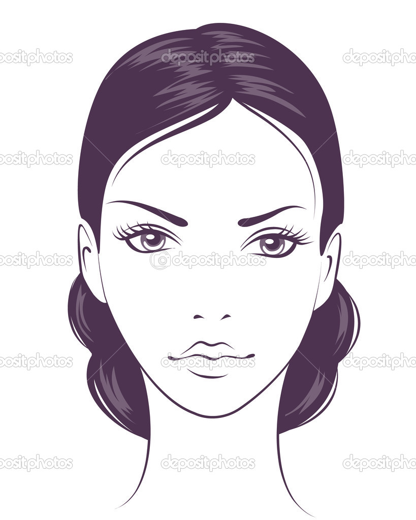 Beauty face girl. Abstract vector illustration — Stock Vector #5419964