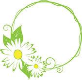 Funny spring floral border. — Vetor de Stock
