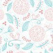 Floral summer background with birds - Stockvektor