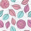 Beauty seamless floral pink vector background — Stok Vektör