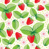 Seamless sweet strawberry background. — Stock Vector