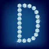 Alfabeto diamante vector. letra c — Vector de stock
