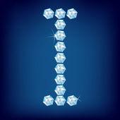 Vector Diamond alphabet. Letter I — Stock Vector