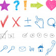 Designers creative icons set for website. Vector — Stock Vector