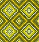 Ornamento de étnico africano abstrato sem costura verde — Vetorial Stock