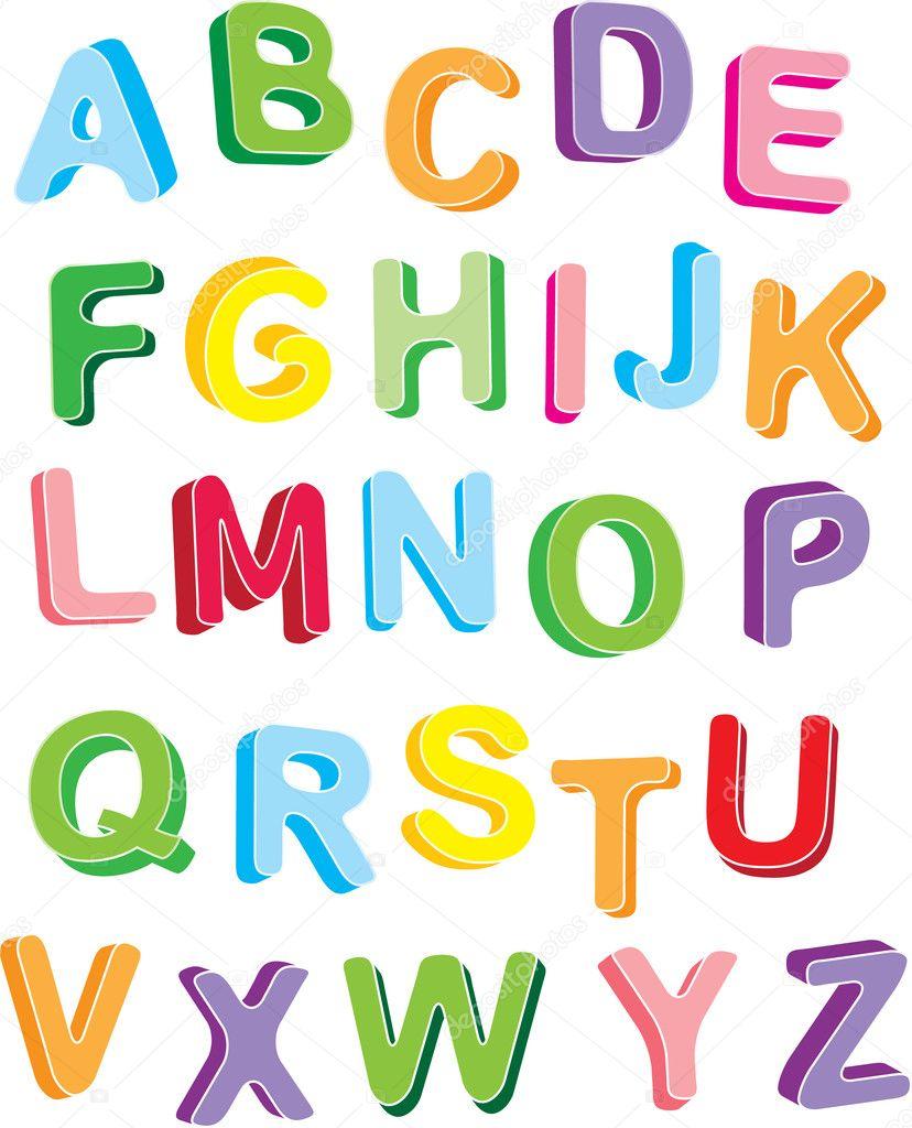 Bubble Letters Alphabet in 3D