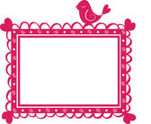 Cute banner frame with bird — Vettoriale Stock