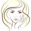 Beauty woman face. — Stock Vector