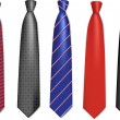 Neck ties collection. - Stock Vector