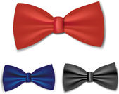 Bow-tie set — Stock Vector
