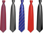 Neck ties collection. — Stock Vector