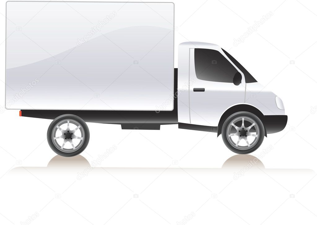 Vector delivery cargo truck . Isolated on white illustration  Stock Vector #6057376