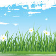 Royalty-Free Stock Vector Image: Summer grass banners