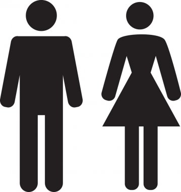 Man and Woman icon on white background
