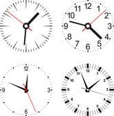 Ställa in vektor illustration av klocka — Stockvektor