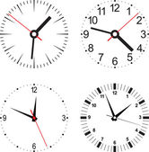 Set vector illustration of clock — Stock Vector